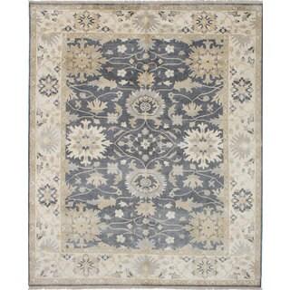 Ecarpetgallery Royal Ushak Grey Wool Rug (8'1 x 9'9)
