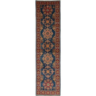Ecarpetgallery Finest Gazni Blue Wool Rug (2'6 x 10'4)