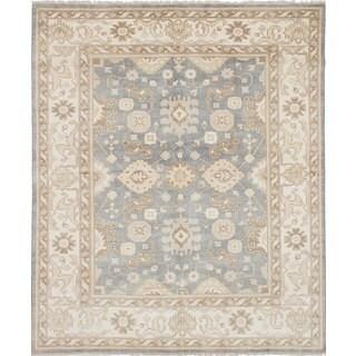 Ecarpetgallery Royal Ushak Blue Wool Rug (8'3 x 9'10)