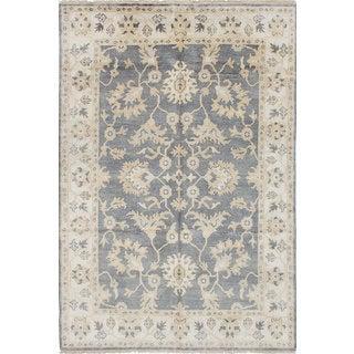 Ecarpetgallery Royal Ushak Grey Wool Rug (6'1 x 9')
