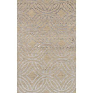 Ecarpetgallery La Seda Ivory Wool & Art Silk Rug (4'11 x 7'11)