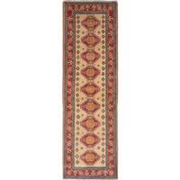 ecarpetgallery Finest Gazni Ivory, Red Wool Rug
