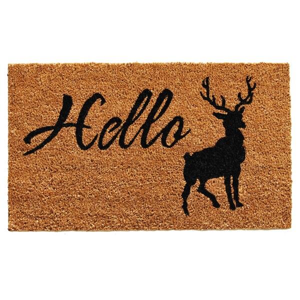 Hello Elk Doormat (1'5 x 2'3)