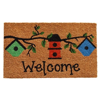 Birdhouse Welcome Doormat (1'5 x 2'3)
