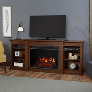 Real Flame 'Eliot' Vintage Black Maple 81.125 in. W x 19 in. D x 34.25 in. H Grand Electric Fireplace