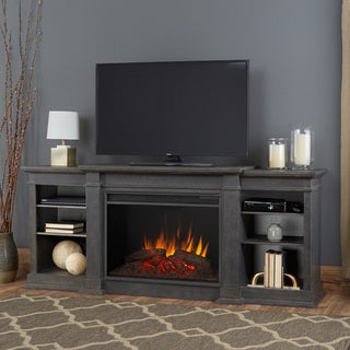 Eliot Antique Grey Grand Electric Fireplace