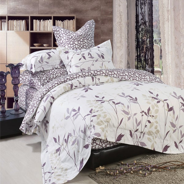 North Home Iris Cotton 4-piece Duvet Cover Set