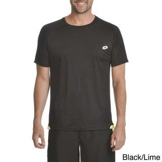 Lotto Men's Polyester Grid Short-sleeve T-shirt