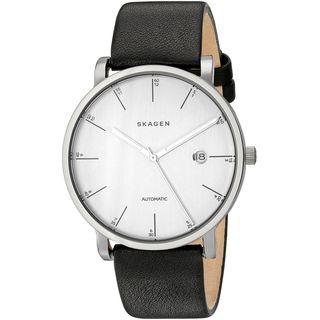 Skagen Men's SKW6302 'Hagen' Black Leather Watch