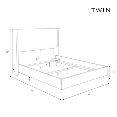 Skyline Furniture Nailhead Trim Button Tufted White Velvet Wingback Bed