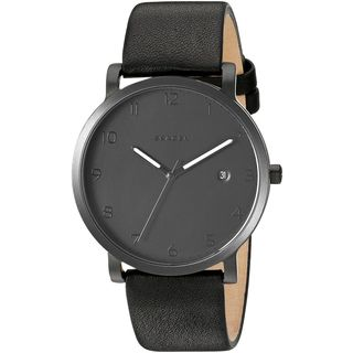 Skagen Men's SKW6308 'Hagen' Black Leather Watch