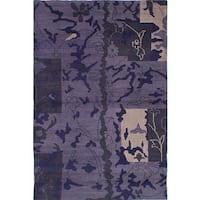 Ecarpetgallery Eternity Purple Wool Rug (5'1 x 7'8)