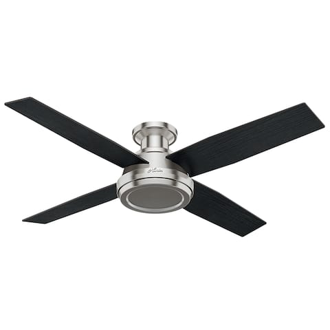 "Hunter 52"" Dempsey Low Profile Ceiling Fan with Handheld Remote (As Is Item)"
