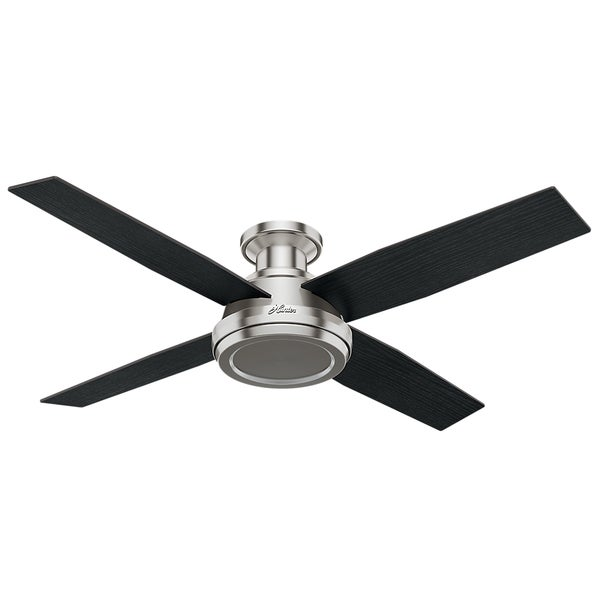 "Hunter 52"" Dempsey Low Profile Ceiling Fan with Handheld Remote (As Is Item). Opens flyout."