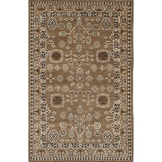 Ecarpetgallery Eternity Green Wool Rug (5'2 x 8')