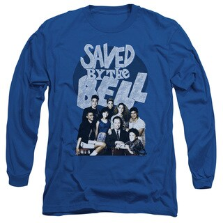 Saved By The Bell/Retro Cast Long Sleeve Adult T-Shirt 18/1 in Royal