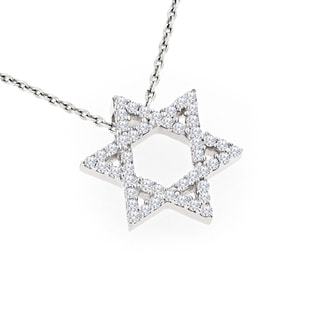 Luxurman 14k Gold 1/2ct TDW Diamond Star of David Pendant (H-I, SI1-SI2)