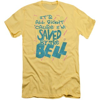 Saved By The Bellong Sleeveaved Short Sleeve Adult T-Shirt 30/1 in Banana