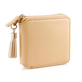 Gearonic Fashion Women's Flip PU Leather Long Wallet Clutch Card Holders (Option: Beige)