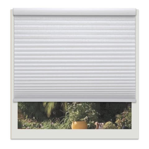 Linen Avenue Custom Cordless 66- to 67-inch Wide Crystal Light-fIltering Cellular Shade