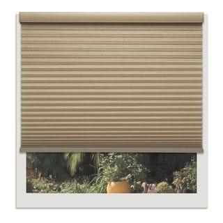 Linen Avenue Custom Cordless Tan Polyester Wide Harvest Light-fIltering Cellular Shade