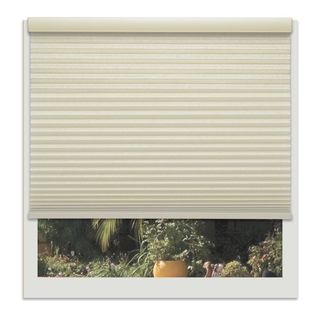 Linen Avenue Custom Cordless Beige Light-fIltering Cellular Shade