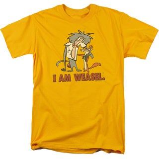 I Am Weasel/Buddies Short Sleeve Adult T-Shirt 18/1 in Gold