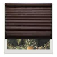 Linen Avenue Custom Cordless 66- to 67-inch Wide Chocolate Light-fIltering Cellular Shade