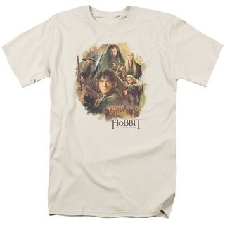 Hobbit/Collage Short Sleeve Adult T-Shirt 18/1 in Cream/Ivory