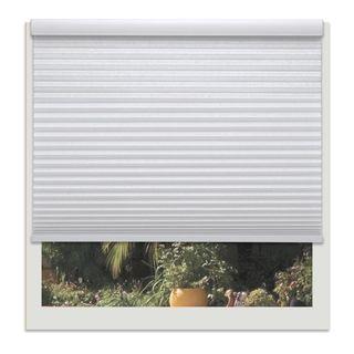 Linen Avenue Custom Cordless White Polyester Light-fIltering Cellular Shade