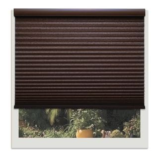 Linen Avenue Custom Cordless Chocolate Brown Light fIltering Cellular Shade