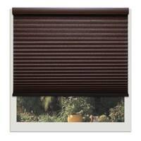 Linen Avenue Custom Cordless Chocolate Brown Light-fIltering Cellular Shade