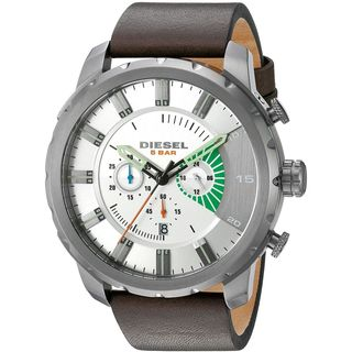 Diesel Men's DZ4410 'Stronghold' Chronograph Brown Leather Watch