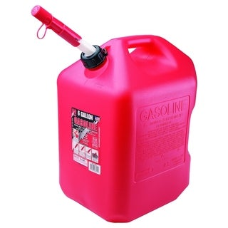 Auto Shutoff Red HDPE 6-gallon Gasoline Can