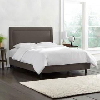 Skyline Furniture Border Bed in Linen Slate