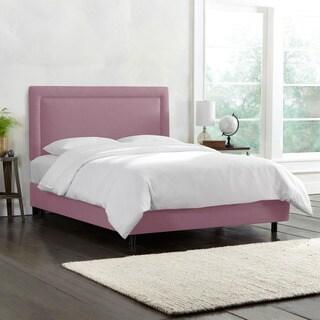 Skyline Furniture Border Bed in Linen Lavender