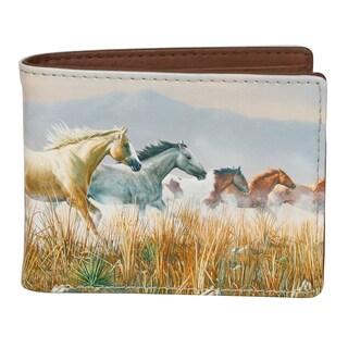 Buxton Wildlife Thunder Horses Slimfold Wallet