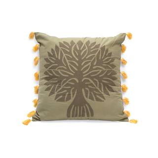 Handmade Banyan Applique Pillow - Peaceful Forest Green (India)|https://ak1.ostkcdn.com/images/products/12453734/P19267370.jpg?impolicy=medium
