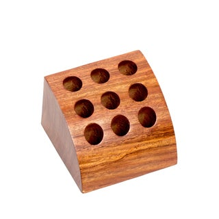 Handmade Writer's Station Rosewood Pen Holder (India)