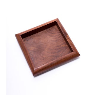 Handmade Solid Rosewood Tray - Square (India)