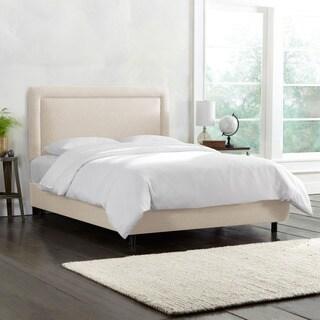 Skyline Furniture Talc Linen Border Upholstered Bed