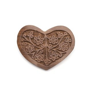 Handmade Sonia Heart Barrette (India)