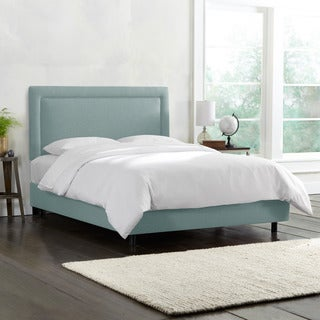Skyline Furniture Border Seaglass Green Linen Bed
