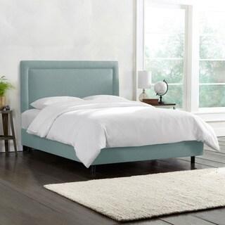 Skyline Furniture Border Seaglass Green Linen Bed
