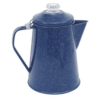 Granite Ware F0224-4 2 Quart Blue Porcelain Coffee Perculator