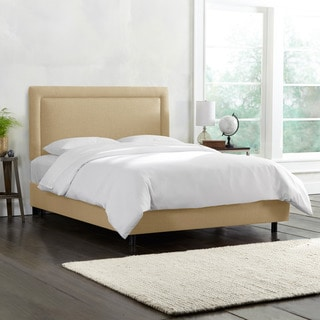 Skyline Furniture Border Bed in Linen Sandstone