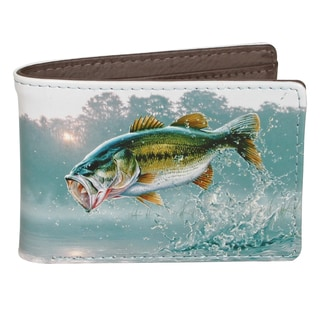 Buxton Wildlife First of the Day Bass Front Pocket Slimfold Wallet
