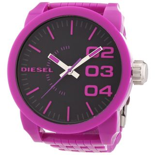 Diesel Unisex DZ1519 'Not So Basic' Purple Plastic Watch