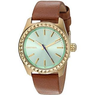Diesel Women's DZ5511 'Kray Kray' Brown Leather Watch|https://ak1.ostkcdn.com/images/products/12453779/P19267448.jpg?impolicy=medium