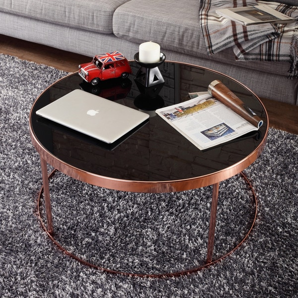 Gold Outdoor Coffee Table: Shop Furniture Of America Rosina Contemporary Rose Gold